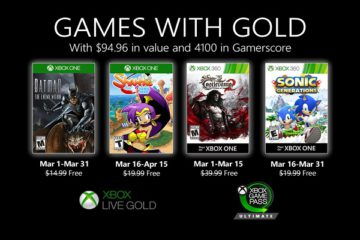 xbox live gold march 2020