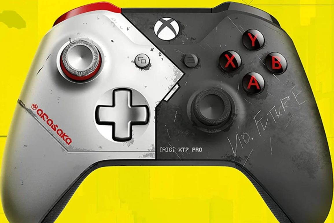 Controller of the Cyberpunk 2077 Xbox one X