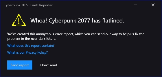 Cyberpunk 2077 launch issues